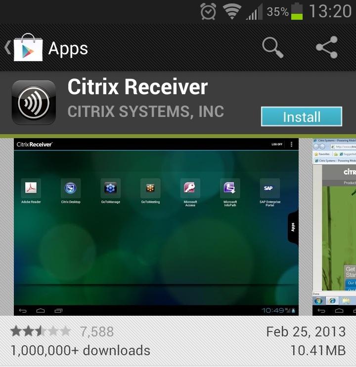 Citrix Receiver Web